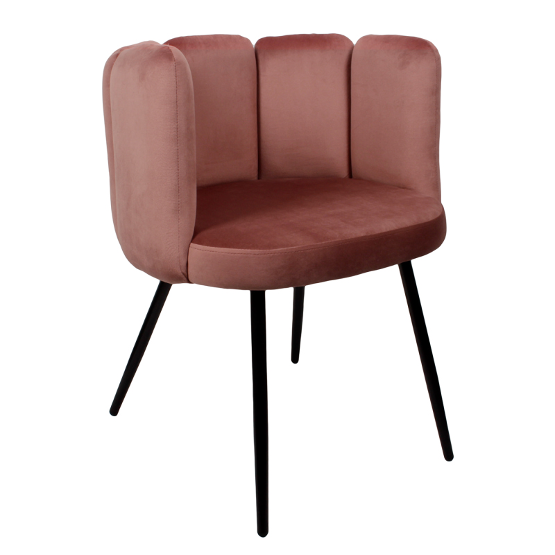 High five chair velvet - roze