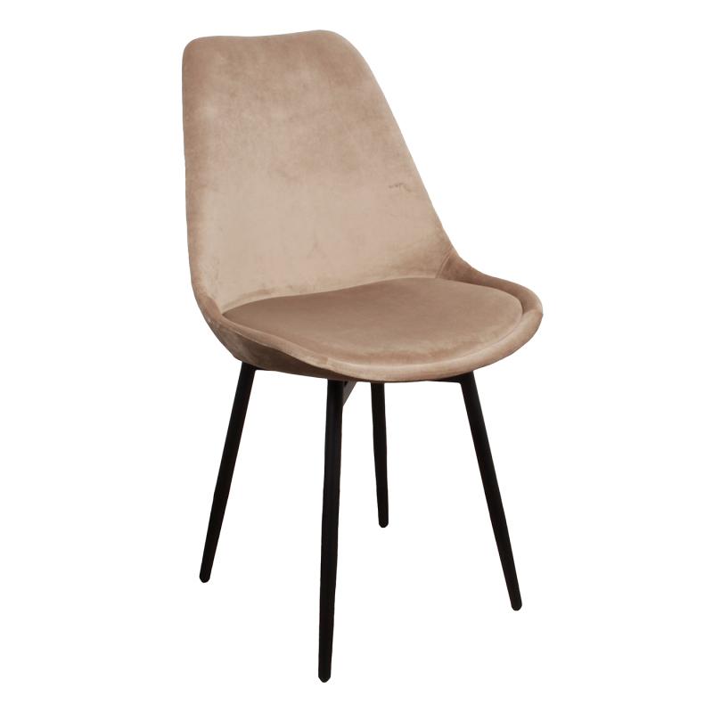 Leaf chair velvet – zand