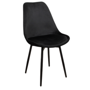 Leaf chair velvet – zwart