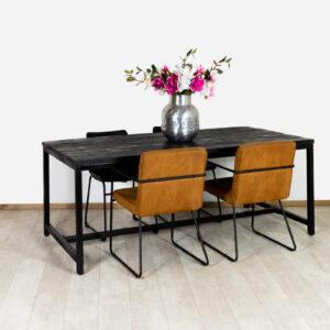 Zwarte Mangohout Eettafel