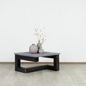 Betonlook salontafel Hessel met stalen frame