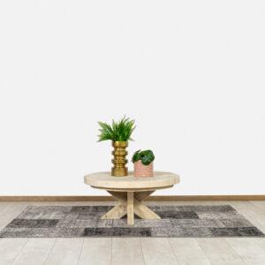 Steigerhouten salontafel Gilson met kruispoot