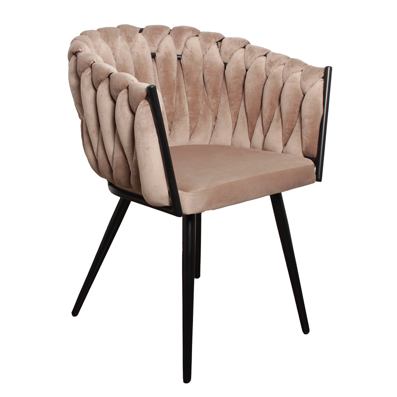 Wave chair velvet - zand