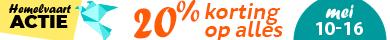 20% Hemelvaarts korting