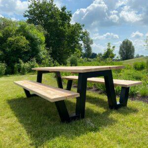 Douglashout picknicktafel Sulon met W frame