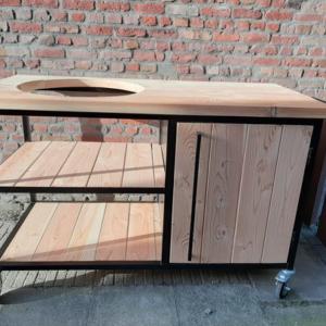 Douglas houten buitenkeuken Tatum met stalen frame