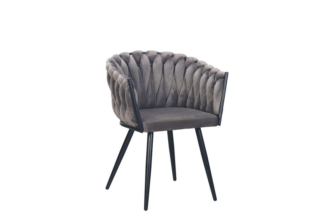 Wave chair velvet - donkergrijs