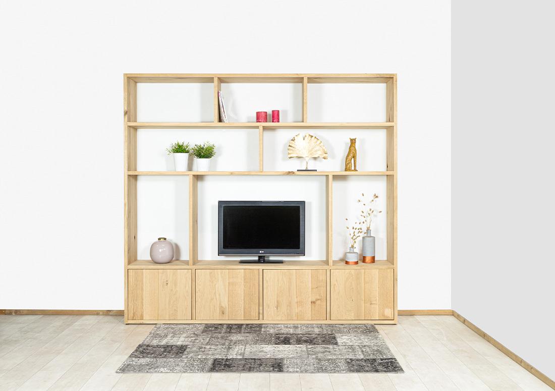 Eikenhouten TV meubel/kast Arja