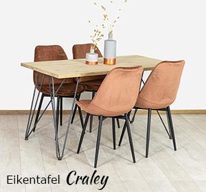 Eikenhouten tafel Craley