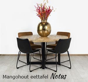 Mangohout eettafel Notus