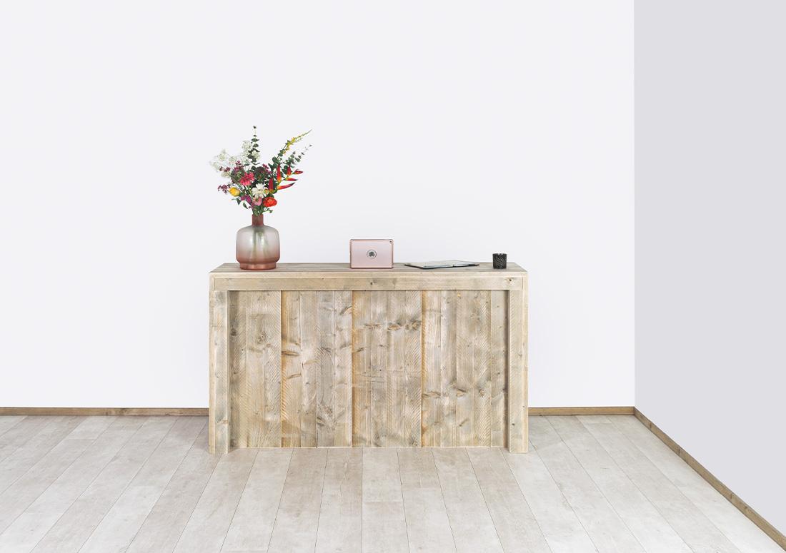 Steigerhouten toonbank Bejou