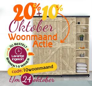 30% oktober woonmaand korting